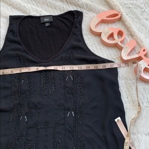 Mossimo Supply Co. Tops - 💎5/$25💎Mossimo Black Beaded Tank